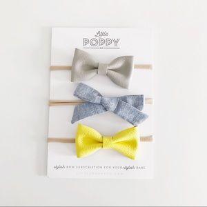 LITTLE POPPY CO Girl's Apr. '17 Add-On Bow Set